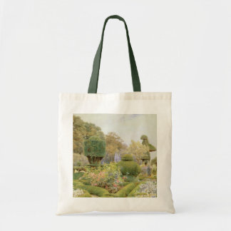 Roses and Pinks by Elgood, Vintage English Garden Canvas Bags