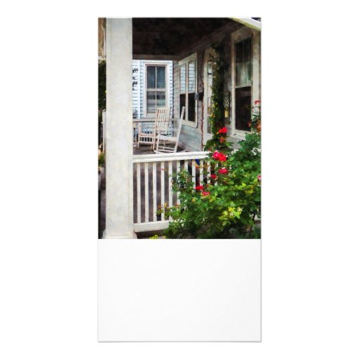 Roses and Rocking Chairs Custom Photo Card