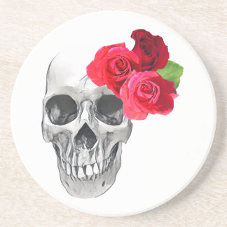 Roses and Skull Drink Coasters