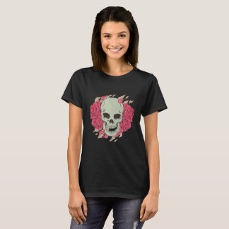 Roses And Skull T-Shirt