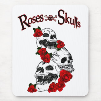 Roses and Skulls Mouse Pad Mousepad