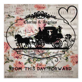 Roses and Song This Day Forward Wedding Invite