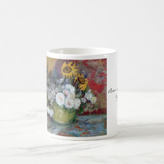 Roses and Sunflowers by Van Gogh Coffee Mug