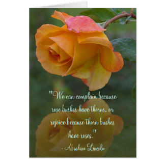 Roses and Thorns Inspirational Card Greeting Card