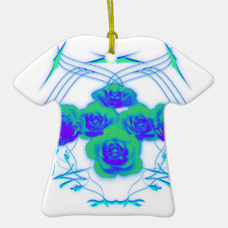 Roses and Tribals Ceramic T-Shirt Decoration