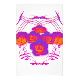 Roses and Tribals Stationery