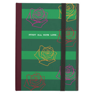 Roses Are Colorful iPad Case in Burgundy Red