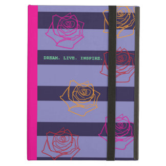 Roses Are Colorful iPad Case in Hot Pink
