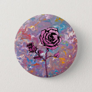 Roses are Pink 6 Cm Round Badge