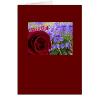 Roses are Red, Violets are Blue Greeting Card