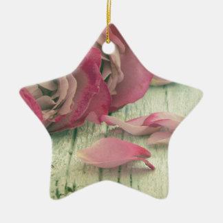 roses background ceramic ornament