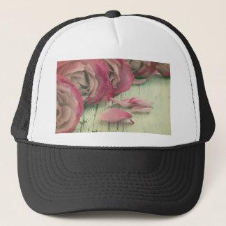roses background trucker hat