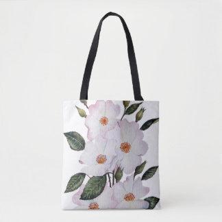 Roses 'Ballerina' Floral Art Tote Bag