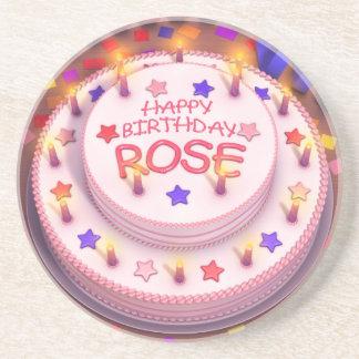 Rose's Birthday Cake Coasters