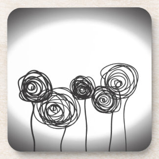 Roses - Black and White Coasters