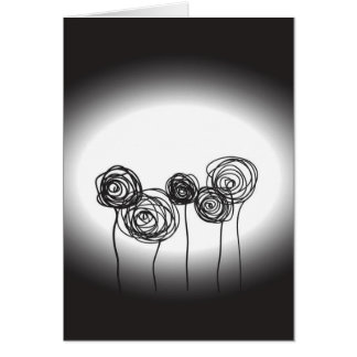 Roses - Black and White Greeting Card