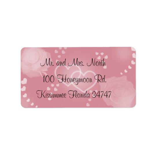 Roses Blush Pink  Address Label