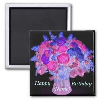 Roses Bouquet Birthday Magnet