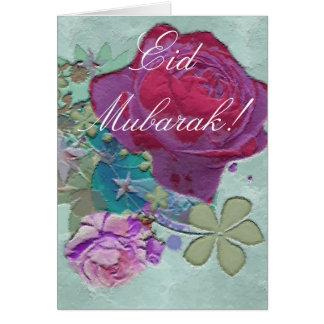 Roses bouquet Eid Mubarak Card
