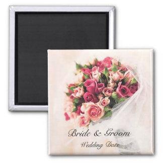 Roses Bouquet Wedding Favor Magnet