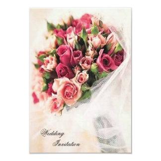 Roses Bouquet Wedding Custom Invite