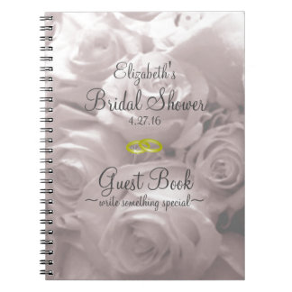 Roses-Bridal Shower Guest Book- Notebook