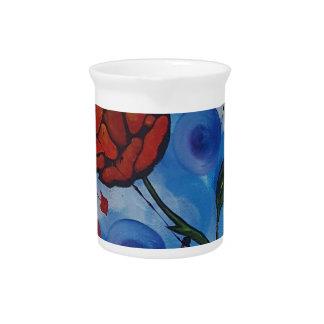 roses & bubbles pitcher