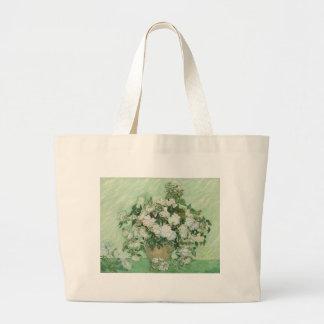 Roses by Van Gogh Jumbo Tote Bag