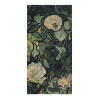 Roses by Vincent Van Gogh Personalized Photo Card