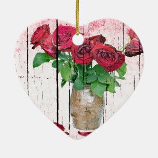 Roses Ceramic Heart Decoration