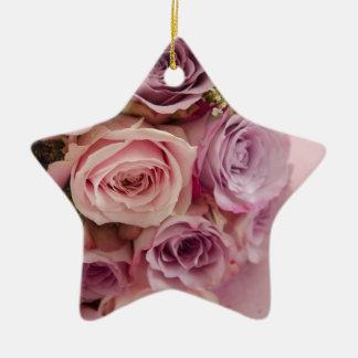 Roses Ceramic Star Decoration
