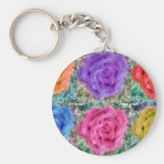 Roses Collage Key Ring