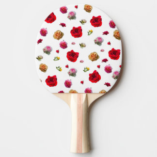 roses collage on white background ping pong paddle