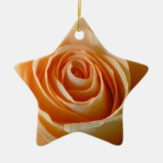 Roses Double-Sided Star Ceramic Christmas Ornament
