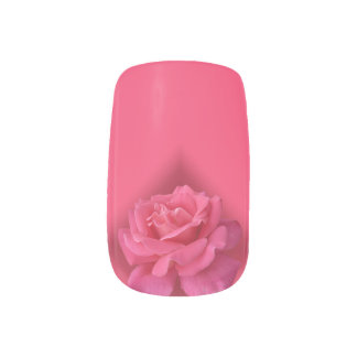 Roses Fingernail Decals Pink Rose Nail Art