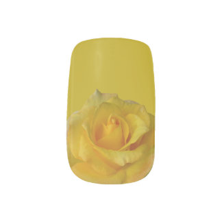 Roses Fingernail Decals Yellow Rose Nail Art