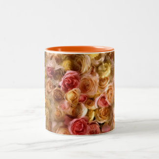 Roses For A Bride Two-Tone Coffee Mug