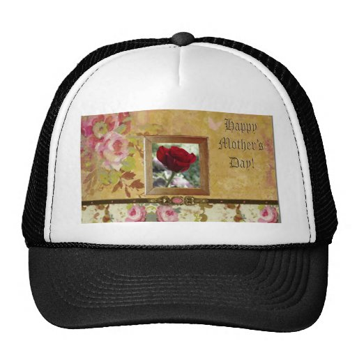 Roses for Mother's Day Mesh Hats