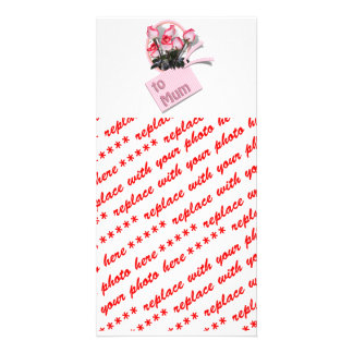 Roses For Mum on Mother's Day (Add Any Color) Personalized Photo Card