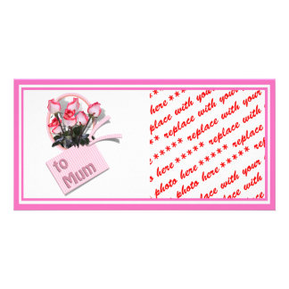 Roses For Mum on Mother's Day (Add Any Color) Customized Photo Card