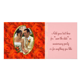 Roses Frame Custom Photo Card