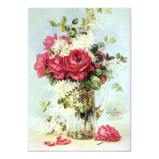 "Roses Fresh from the Garden Bridal Shower 5"" X 7"" Invitation Card"