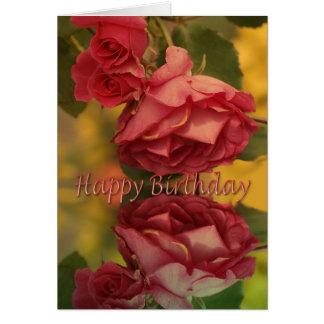 Roses happy birthday card