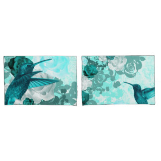 Roses & Humming Birds Pillowcase