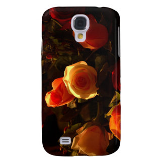 Roses I - Orange, Red and Gold Glory Samsung Galaxy S4 Cover