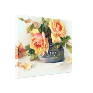 Roses in a Bowl Canvas Print