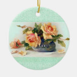 Roses in a Bowl Ornament