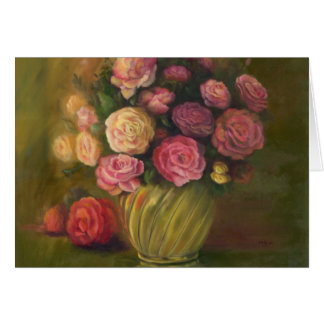 """Roses in a Brass Bowl"" Card"