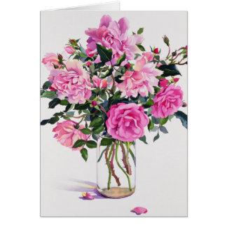 Roses in a Glass Jar Card