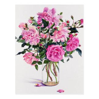 Roses in a Glass Jar Postcard